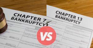 Bankruptcy Chapter 7 vs 13